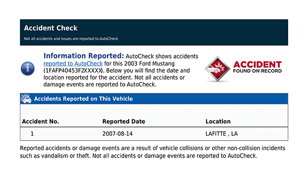 Data regarding the number of reported accidents, their location and dates.