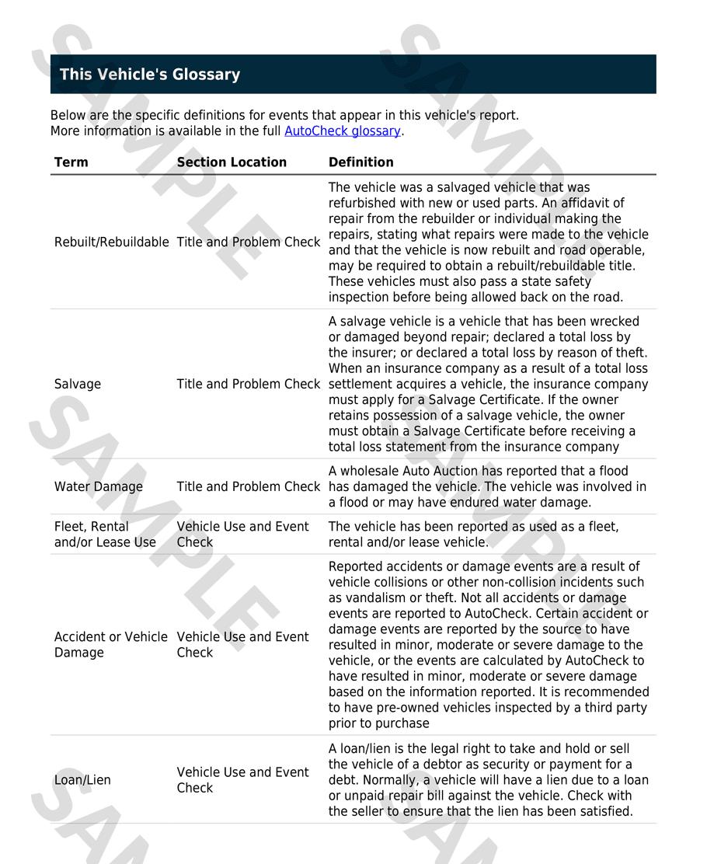 Report AutoCheck | autoDNA