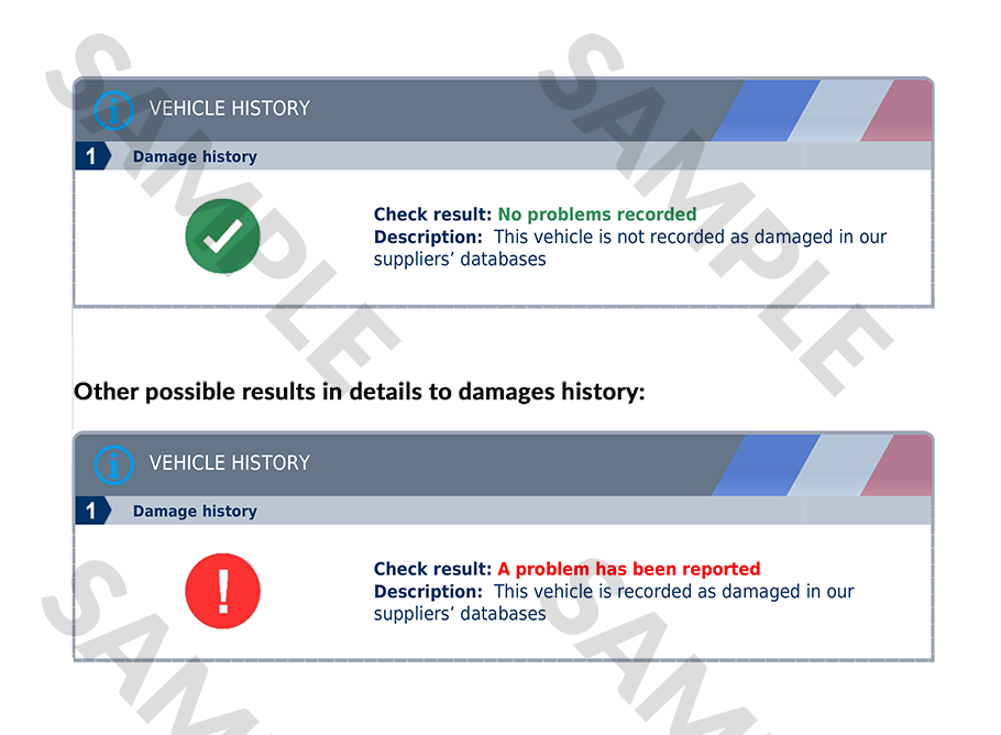 autoDNA Vehicle History Report for French vehicles | autoDNA