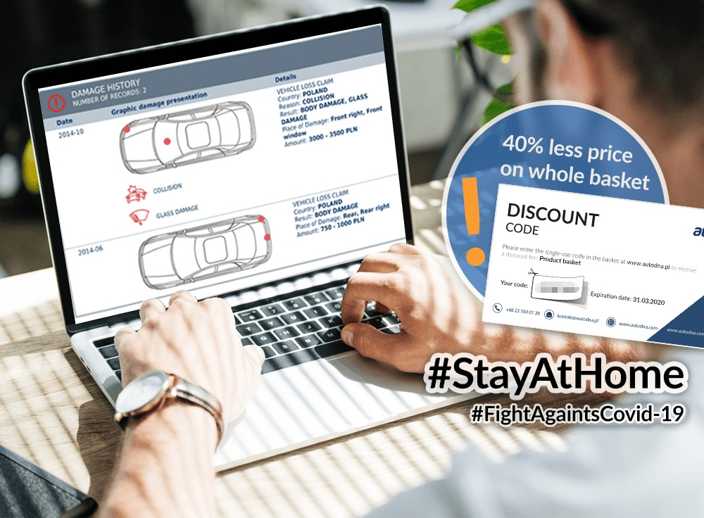 Stay at home(#stayathome), find and check a car on-line