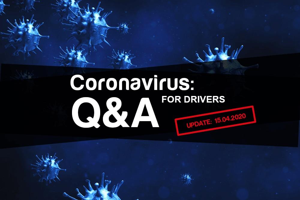 Coronavirus: Q&A for drivers