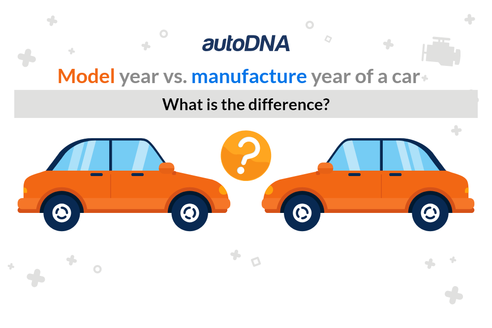 Model year vs. manufacture year of a car