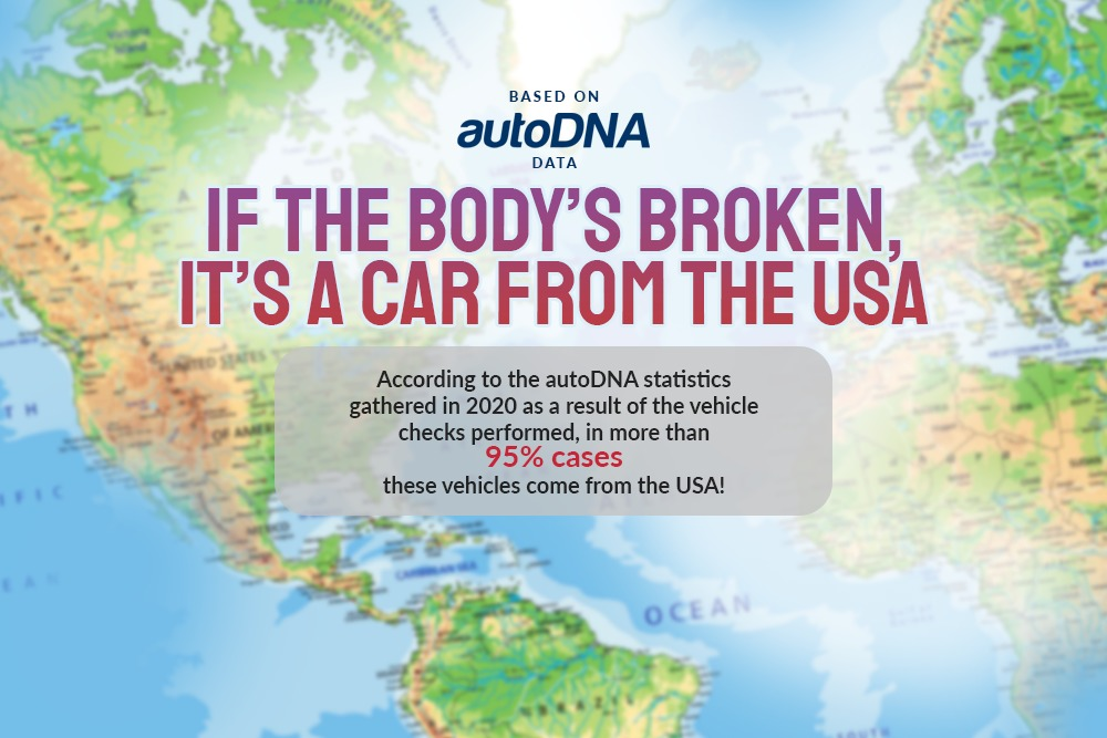 If the body's broken, it's imported car from the USA